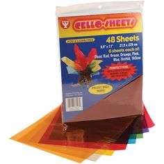 Hygloss Cello Sheets, 8.5 by 11-Inch, 48-Pack. For RGB project toddlers :)