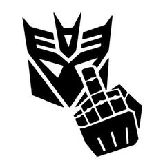 Decepticon Finger Vinyl Decal Wall Art by BadFishDecals on Etsy