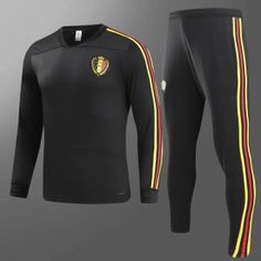 3f0fa3a190d 2018 Tracksuit Belgium Replica Black Football Suit 2018 Tracksuit Belgium  Replica Black Football Suit