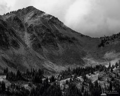 A black and white landscape photograph of Dege Peak on a cloudy late summer day with the sun highlighting the meadows below at Mount Rainier National Park, Washington. The post Dege Peak, Washington, 2019 appeared first on Steve G. Mount Rainier National Park, Black And White Landscape, Mountain Range, Landscape Photographers, Aesthetic Pictures, Pacific Northwest, Places To Go, Sunrise, National Parks