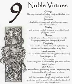 Viking virtues. Good word to live by.
