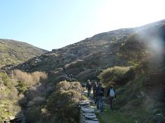 Hiking in Andros island.