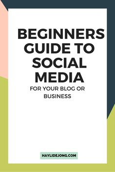 Social media is one of the biggest drivers of traffic to most blogs- this guide can help a new blogger or entrepreneur get started on some of the biggest social media platforms.