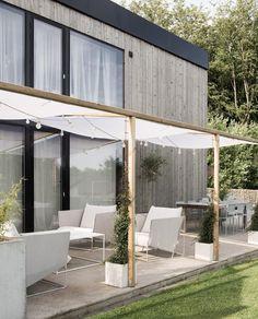 Pergola Designs, Patio Design, Outdoor Spaces, Outdoor Living, Outdoor Decor, House Deck, Garden Deco, Outdoor Gardens, Decoration