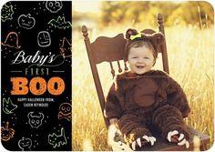 Tiny Prints - Halloween Photo Cards - Babies first Halloween, so adorable!
