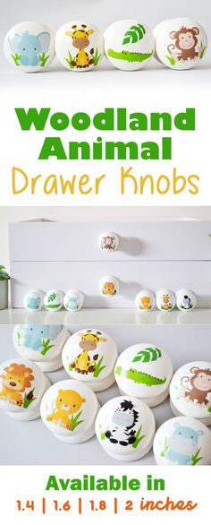 How adorable are these woodland animal drawer knobs! Really cute little handles! Perfect for the wardrobes in the nursery. Can't wait to put these in my son's nursery! Woodland Nursery, Woodland Animals, Paint And Varnishes, Safari, Branch Decor, Nursery Decor, Nursery Ideas, Earth Tone Colors, Furniture Knobs