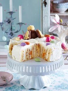 Unser Tortenstar zu Ostern: Mandarinen-Wickel-Torte! HIER GIBT'S DAS REZEPT!