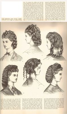 I actually, finally found a hair dressing tutorial from 1871, the…