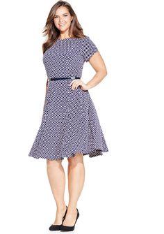 Plus Size A-Line Dress