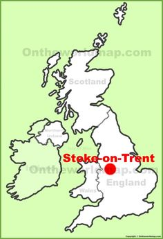 Stoke-on-Trent location on the UK Map
