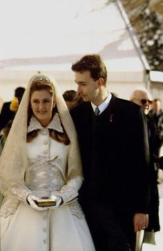 The religous wedding at Mariazell of Archduke Karl of Austria & Baroness Francesca von Thyssen-Bornemisza, 31 Jan 1993