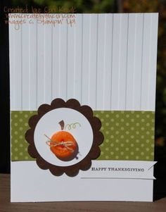 Button Buddies Happy Thanksgiving by papertrail - Cards and Paper Crafts at Splitcoaststampers Thanksgiving Greeting Cards, Happy Thanksgiving, Halloween Cards, Fall Halloween, Xmas Holidays, Christmas, Thanksgiving Projects, Card Candy, Pumpkin Cards