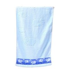 Lovely Lamb Pattern Absorbent Towel Bath Towel Washcloth Washrag BLUE ** Check out this great product.