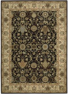 Kathy Ireland Lumiere Stateroom Onyx Area Rug By Nourison KI602 ONYX (Rectangle)