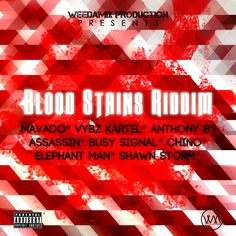 Blood Stains Riddim Cover Sample 1 http://weedamix.com/portfolio/blood-stains-riddim-cover-sample/
