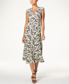 Anne Klein Floral-Print Midi Dress