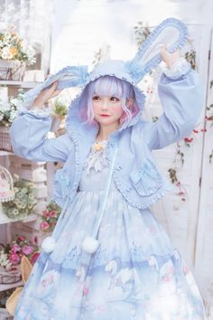 The demon's ears*Daily Cute Coat Pre Order taobao lolita dresses,taobao lolita dress sale Estilo Goth Pastel, Pastel Goth Fashion, Kawaii Fashion, Cute Fashion, Fashion Outfits, Rock Fashion, Emo Outfits, Emo Fashion, Fashion Styles