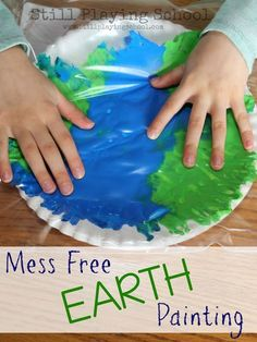 Tissue Paper Earth Day Craft and Printable Template  The Children