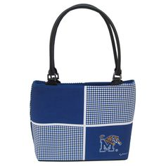 Memphis Tigers Houndstooth Handbag | Need the perfect accessory for your awesome Tiger game day outfit? This Memphis Tigers purse should do the trick. It's sturdy structure and elegant design will compliment your outfit and take you through both day and night.