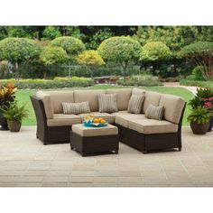 small outdoor patio sectional