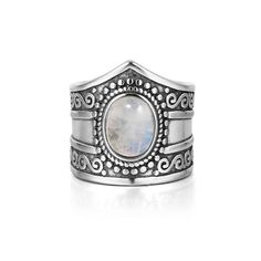 Our Rainbow Moonstone Totem Ring 925 Sterling Silver is made with 925 Sterling Silver and natural Rainbow Moonstone. Available in sizes US6-10.  Features:  925 Sterling Silver Rainbow Moonstone Vintage Sizes US6-10 Free Shipping Bohemian Rings, Rainbow Moonstone, Ring Designs, Cuff Bracelets, Free Shipping, Sterling Silver, Natural, Vintage, Jewelry