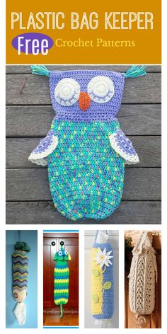 Crochet Handbags Plastic Bag Keeper Free Crochet Patterns - This Plastic Bag Keeper Free Crochet Pattern is the perfect solution to organize the plastic bags you accumulate from grocery stores. Crochet Simple, Free Crochet Bag, Crochet Towel, Crochet Shell Stitch, Crochet Potholders, Crochet Gifts, Crochet Bags, Crochet Owl Purse, Crochet Owl Basket