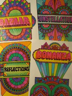 Groovy 1970s Set of Four Vintage Original Prints Number 540 on Etsy, $19.99