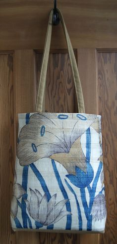 Floral Silk Tote Bag by RagRiches on Etsy