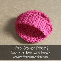 Cream Of The Crop Crochet ~ Face Scrubbie with Handle {Free Crochet Pattern}