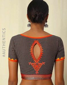 Buy Black Indie Picks Handwoven Hand Embroidered Cotton Blouse