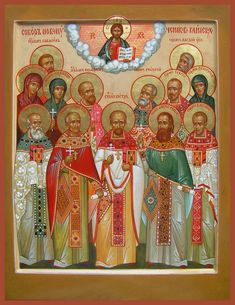 Synaxis of the New Martyrs of Klinski Russian Orthodox icon