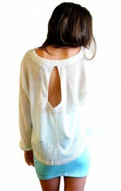 flowy shirt, tight mini