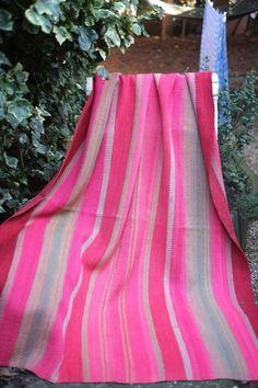 Vintage Bolivian Frazada/Frasada blanket Aymara weaving by fatlama