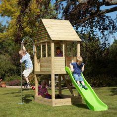 maison bois jardin idée jouer extérieur jeux