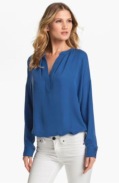 Fresh  Vince 'Popover' Silk Tunic available at #Nordstrom