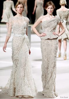 Elie Saab bridal gown inspiration from the runway, Spring/Summer 2011 haute couture collection Summer Dresses, Formal Dresses, Wedding Summer, Dress Wedding, Ellie Saab, Fashion Accessories, Clothes, Ideas, New Dress