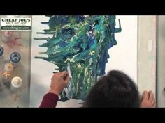 ▶ Debbie Arnold- Pouring Acrylic Skins by Dripping Method - YouTube