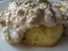 My mission it to find the best Spicy Sausage Gravy & Biscuits - this might be it, from my own kitchen, haven't found any restaurant to meet the challenge!