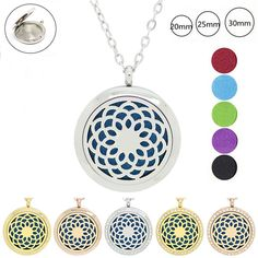 Necklaces & Pendants Jewelry & Watches 25mm Locket Essential Oil Aroma Perfume Diffuser Pendant Keychain Keyrings 5 Pad To Prevent And Cure Diseases