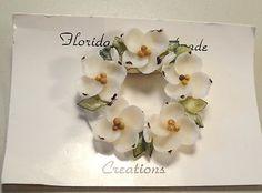 50's Florida Seashell Shell Bead Flower Pin