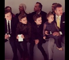 David Beckham and his mini me's www.minimis.co.uk
