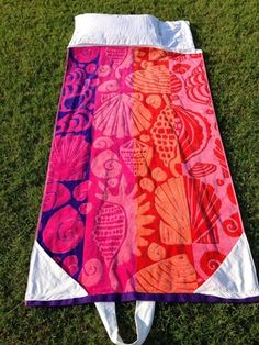 Fold Up Beach Towel Bag Free Sewing Pattern | FaveCrafts.com