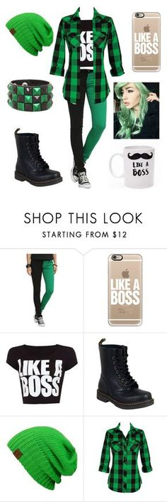 """Jacksepticeye girl outfit"" by autogeek101 ❤ liked on Polyvore featuring Casetify, WearAll and Dr. Martens"
