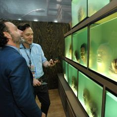 The Walking Dead // Andrew Lincoln & David Morrissey checking out the aquariums.