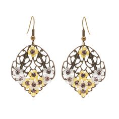 Tutorial - How to: Beauty's Garden Vintaj Filigree Earrings | #Beadaholique