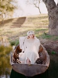 I might be able to get a canoe to take out on the pond!  sheath, dress, transportation, white, vintage, ruffles, lace, chiffon, tulle, classic, floor, rustic, flowers, country, accessories, half, natural, long, silk, shear, embellishments, wedding style, beauty, Spring, Summer, romantic , woodland, elegant, bridal, brides, dresses, engagement, gown, hair, mariage, photo, photography, chic @Elizabeth Lockhart Lockhart Messina