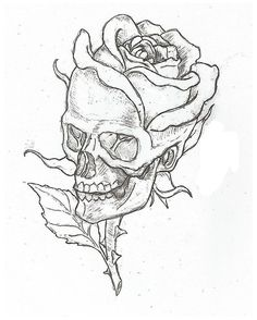 Cool Art Drawings, Art Sketches, Drawings Of Skulls, Drawing Pictures, Drawings About Love, Cool Simple Drawings, Simple Drawings For Beginners, Easy Sketches To Draw, Cool Drawings Tumblr