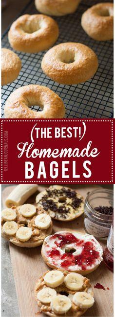 Easy homemade bagel recipe. Make these for breakfast tomorrow! | Jellibeanjournals.com