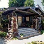 """Pagoda-like details and """"peanut-brittle"""" masonry enliven an oriental-style bungalow."""