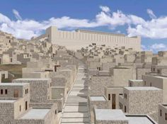 What the Herodian street from the Pool of Siloam to the Second Temple may have looked like.